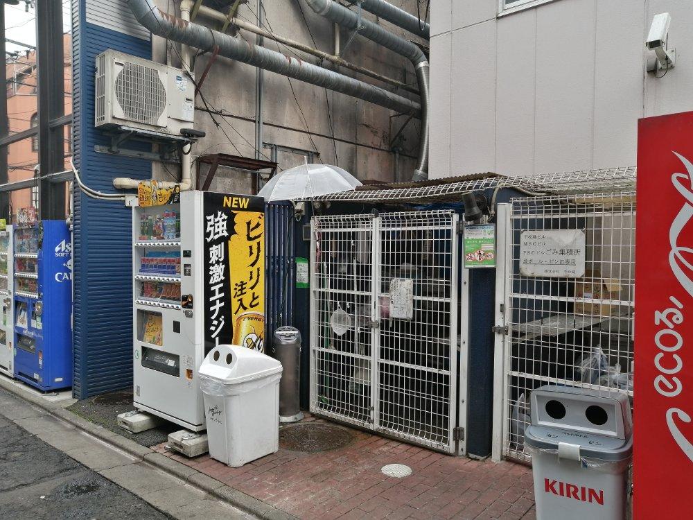 国分町の千松島ビル横の喫煙所