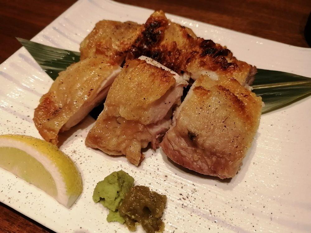 伊達鶏もも肉の旨塩焼き