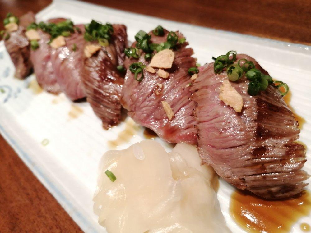 無垢とうや 仙台牛の炙り寿司
