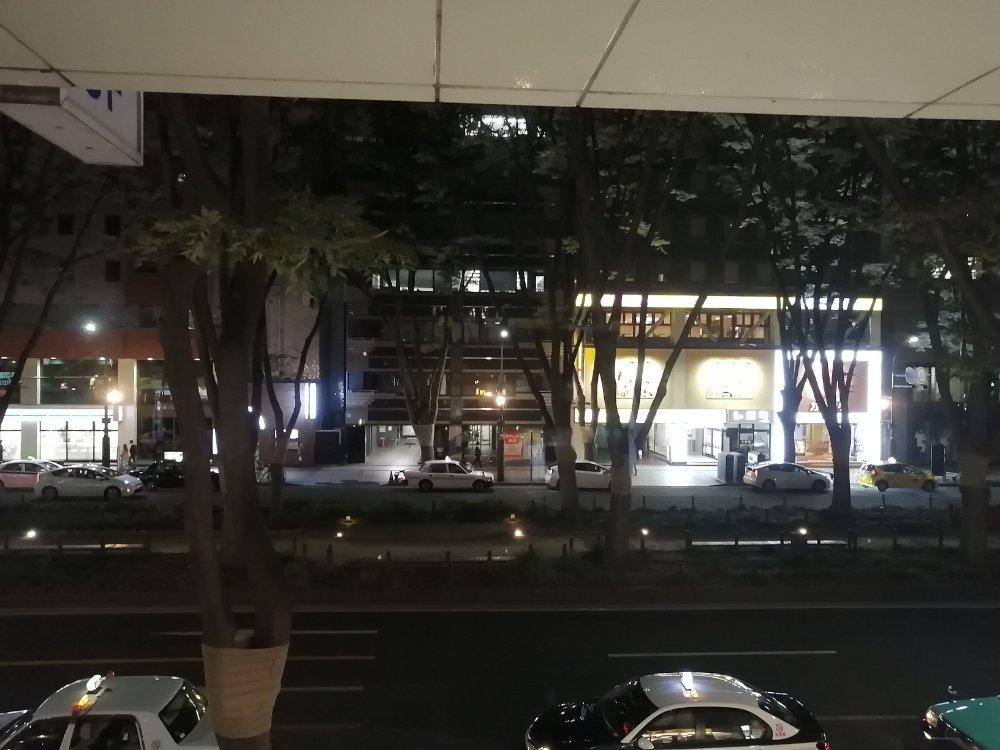 無垢とうやから見た定禅寺通りのケヤキ並木