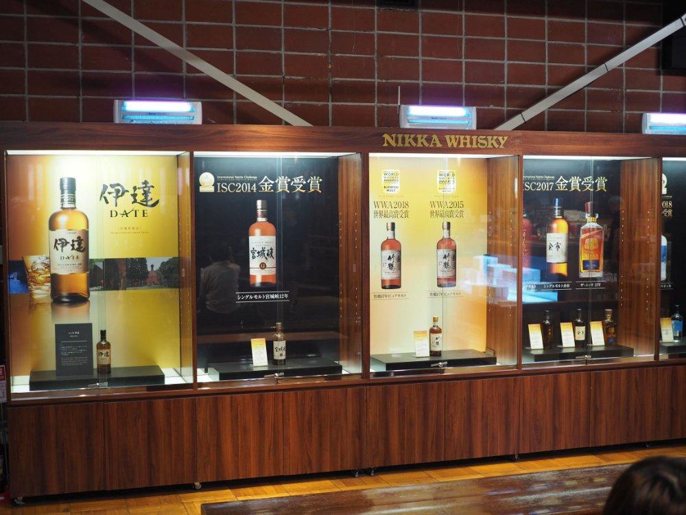 宮城峡で生産されるウイスキーたち