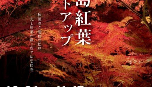2019松島紅葉ライトアップの詳細|秋だけ体験できる神秘的なイベントが今年も開催!