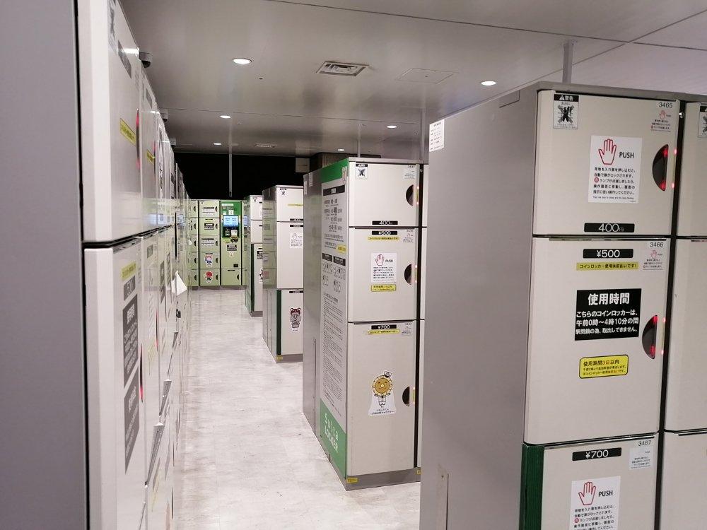 仙台駅3階 中央改札付近のコインロッカールーム