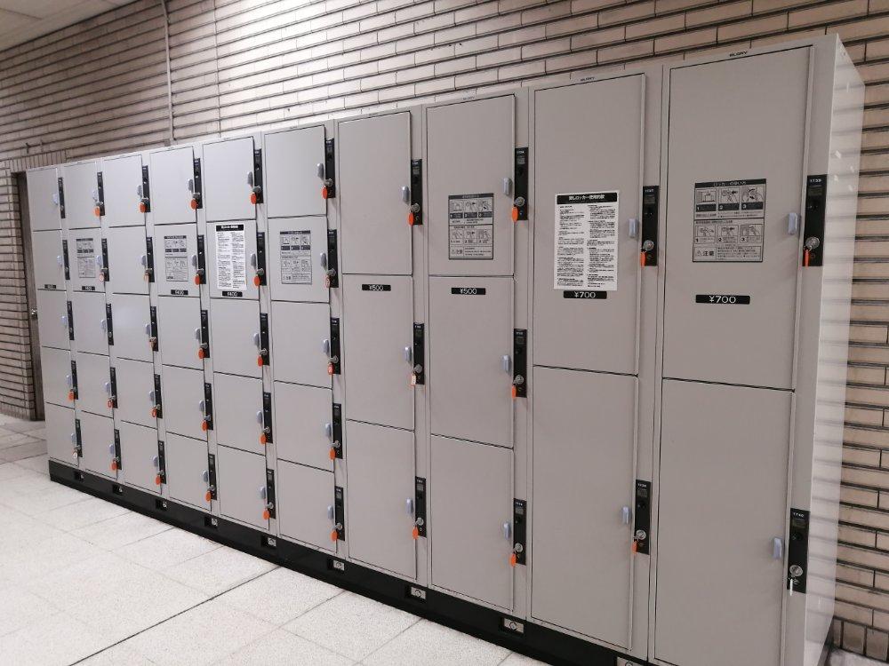 仙台駅地下 南出口のコインロッカー