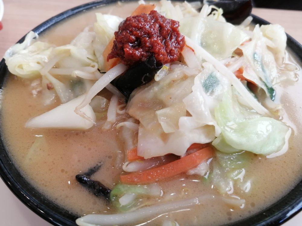 大志軒の野菜味噌麺