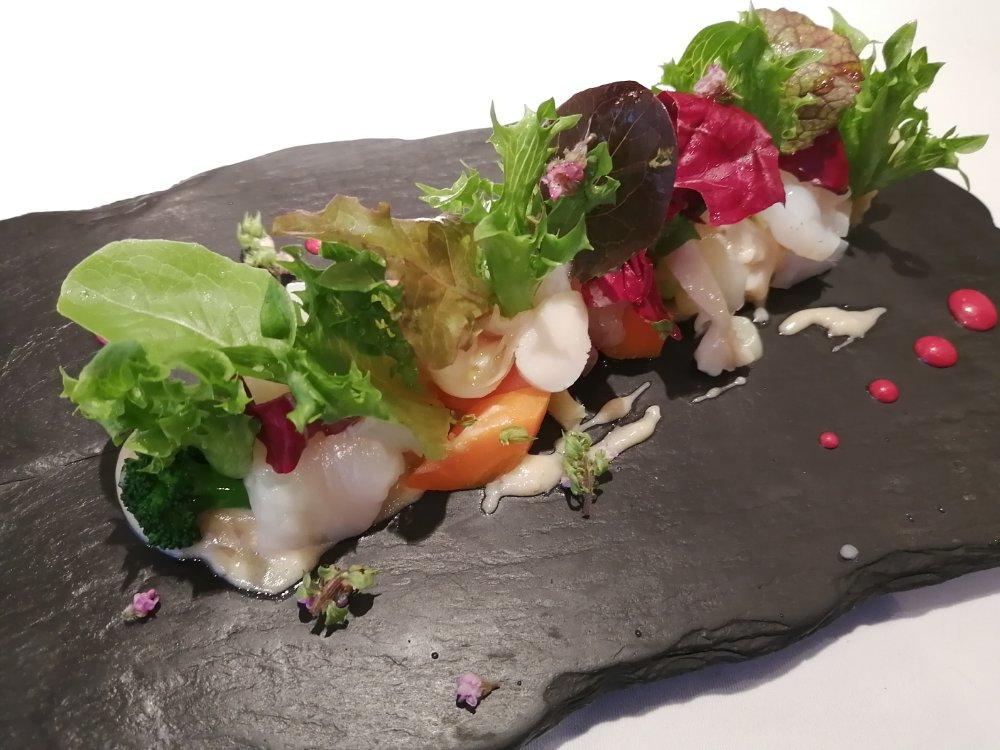 レストランミウラ魚介のマリネ