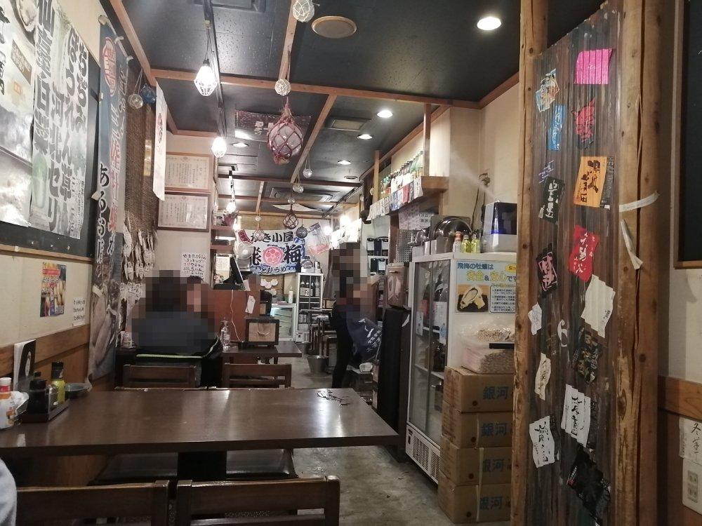 かき小屋 飛梅 仙台駅前店の店内