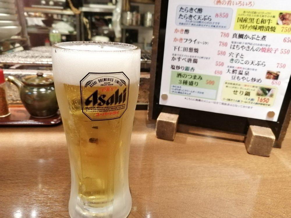 まずはビールを