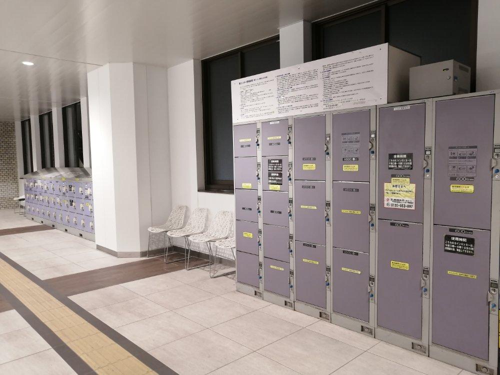 仙台駅2階改札内のコインロッカー