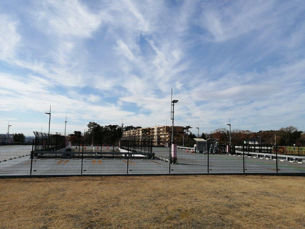 八木山動物公園の駐車場