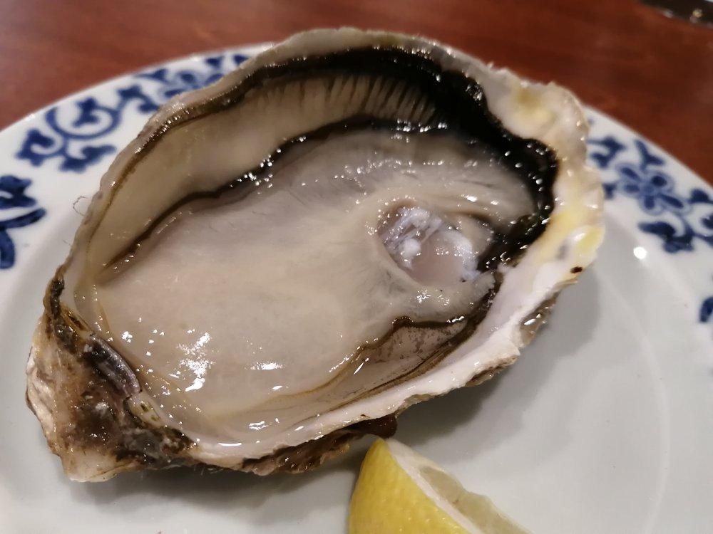 北海道レストランの漁師直送生カキ