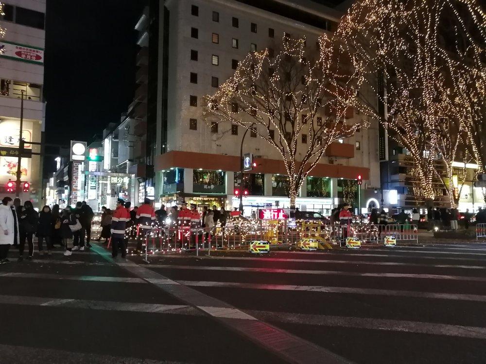 国分町通りの光の歩道