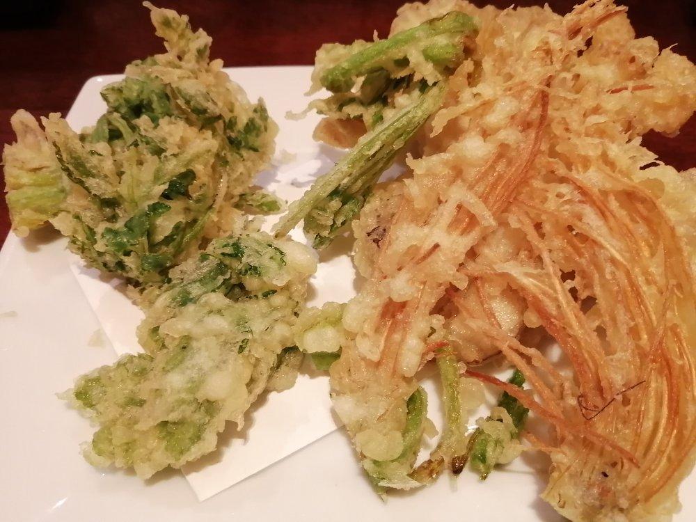 セリの天ぷら