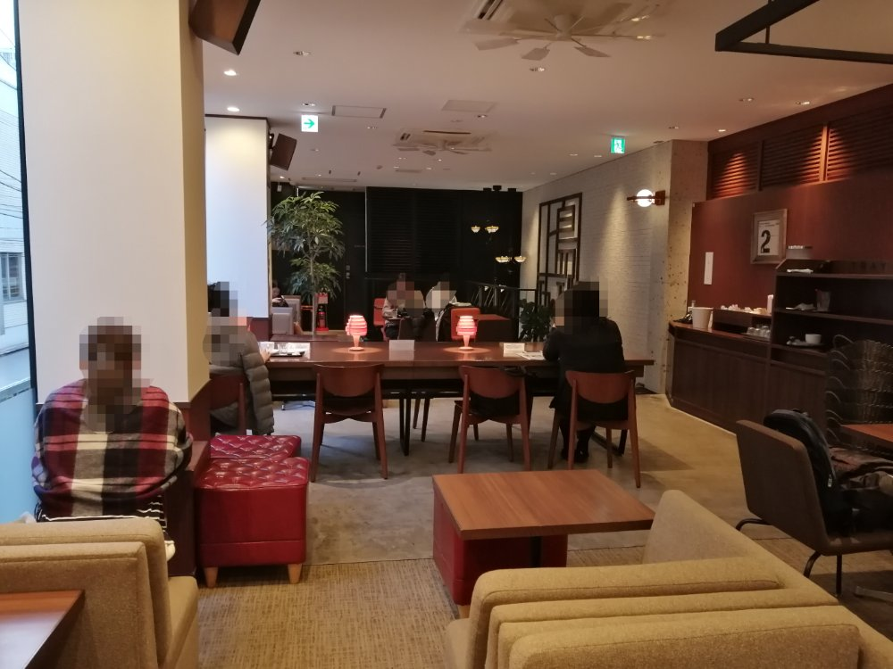 上島珈琲店 仙台一番町店の電源がある席