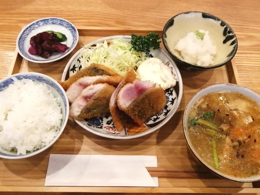 氏ノ木の究極の鯵ふらい定食