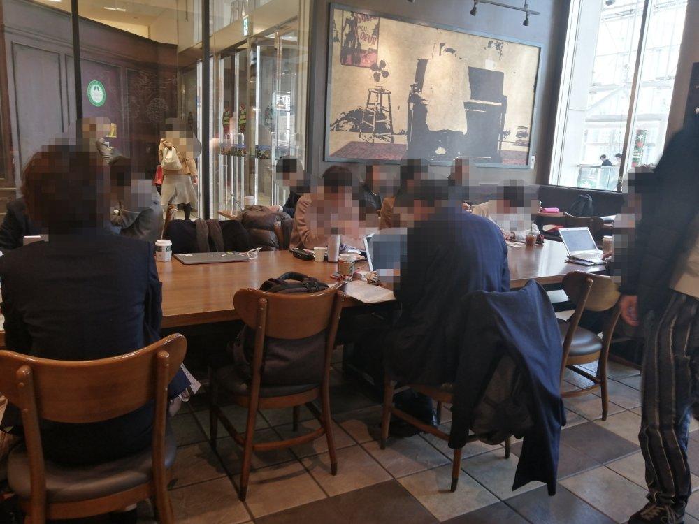 スターバックスコーヒー 仙台アエル店の店内