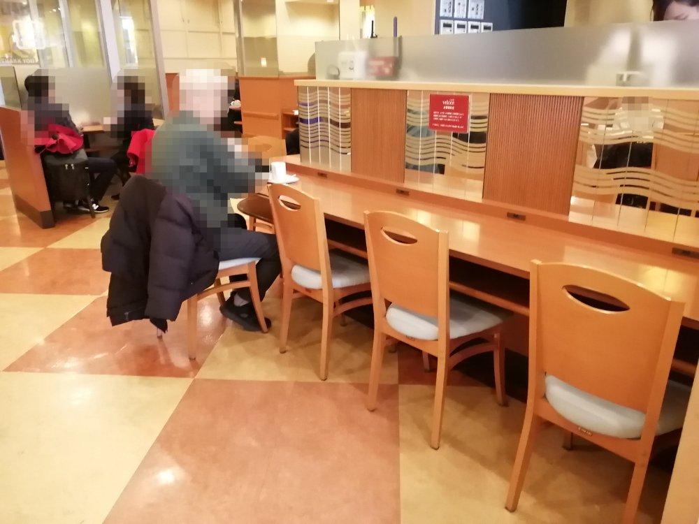 ベローチェ仙台駅東口の席