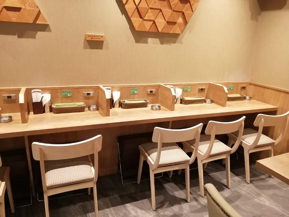 杜のカフェcocodeの喫煙席