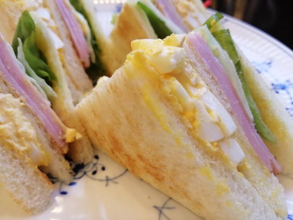 サンドイッチのアップ