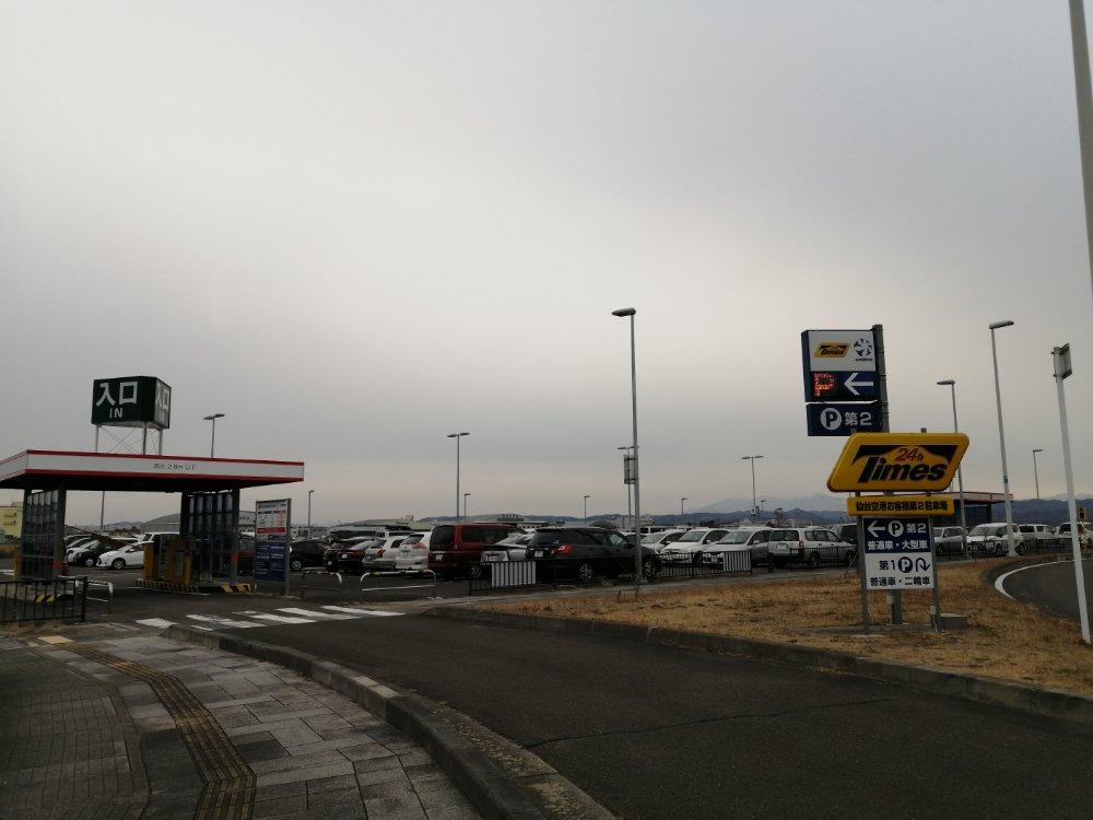 仙台空港の第二駐車場