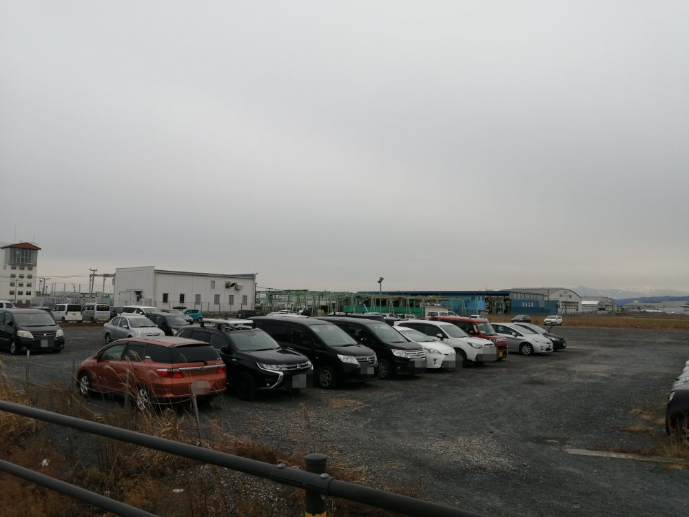 システムパーク仙台空港の駐車スペース