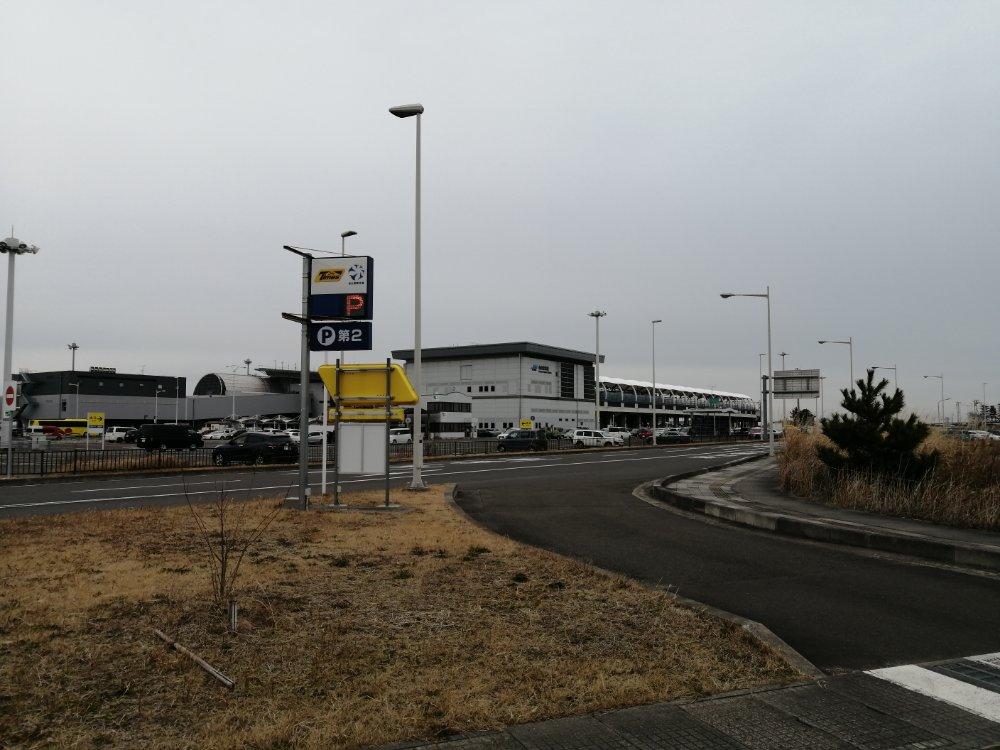 第二駐車場から見た仙台空港