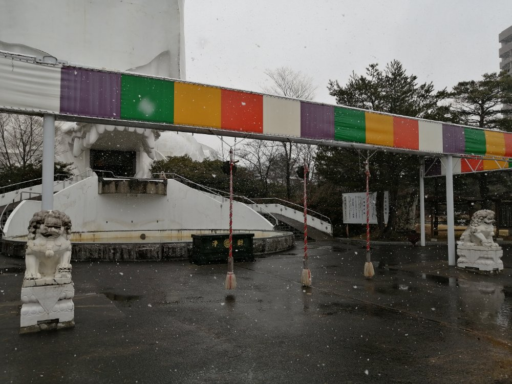 仙台大観音前の広場