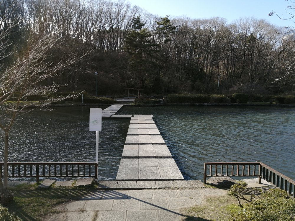 台原森林公園の石橋