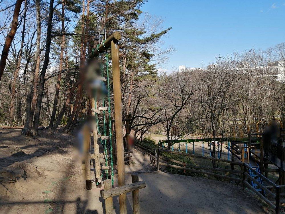 台原森林公園の鐘たたき