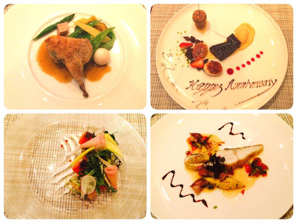 レストランTSUJIの料理