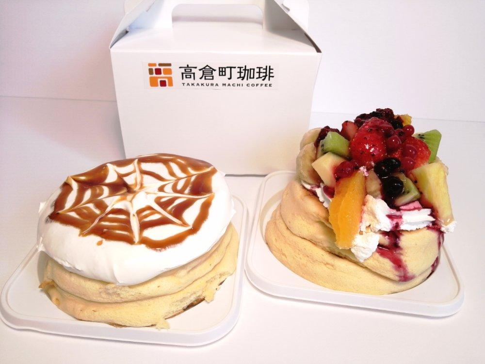 形が崩れずきれいなままのパンケーキ