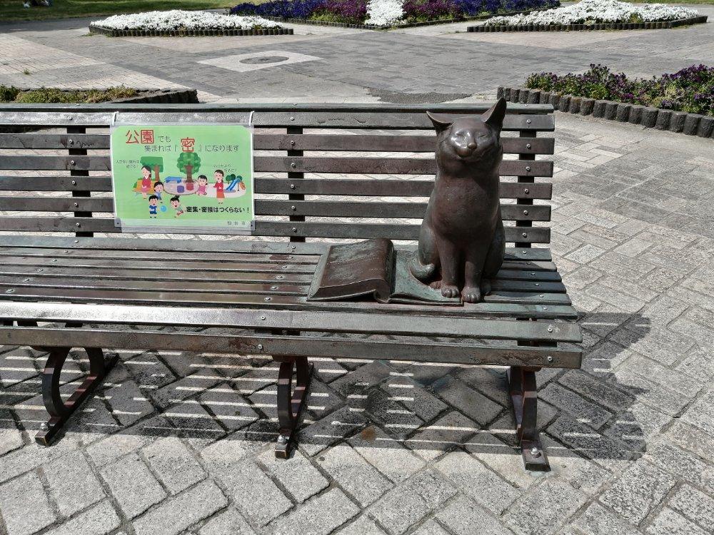 七北田公園のベンチ