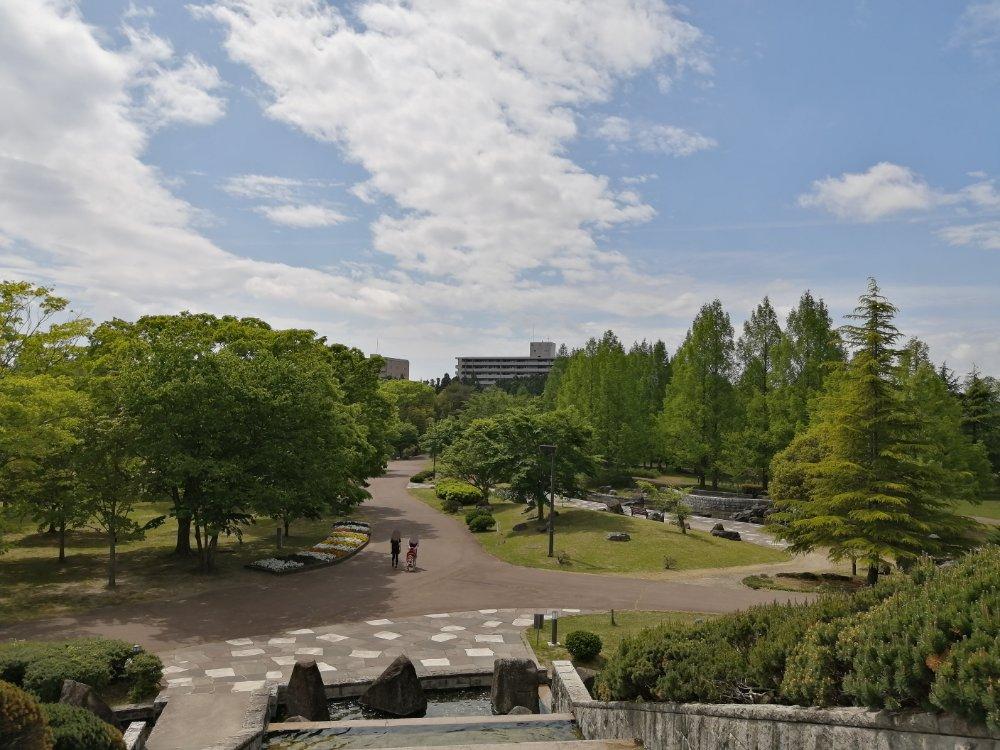 七北田公園 展望台からの景色