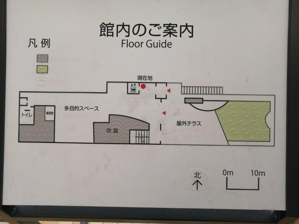 国際センター駅2階の地図