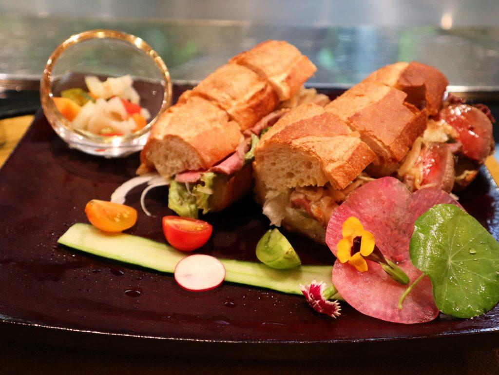ステーキ小次郎のサンドイッチ