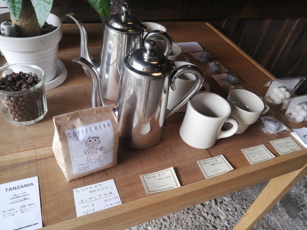 コーヒー豆も販売