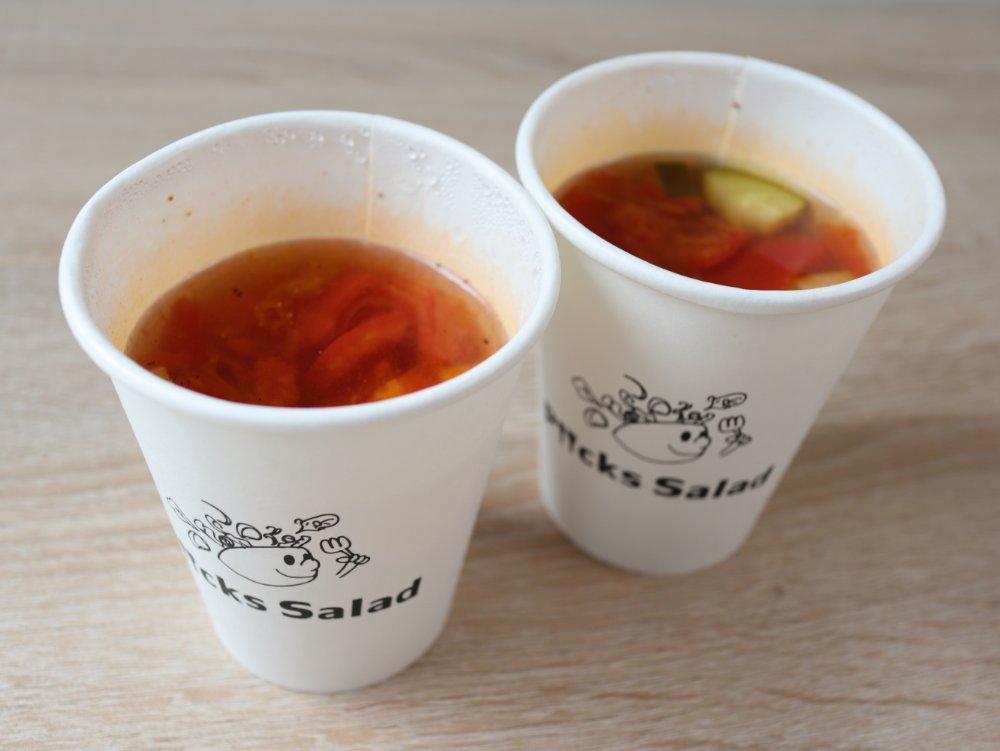 ピックスサラダのスープ