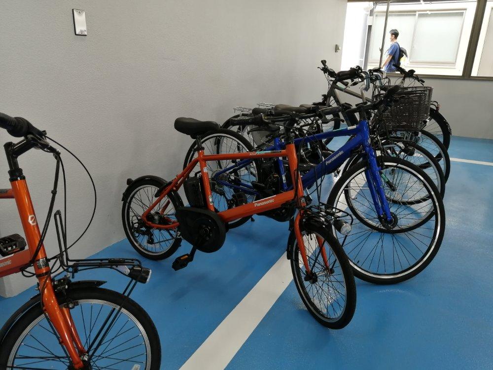 名取市サイクルスポーツセンター 貸し出し用自転車