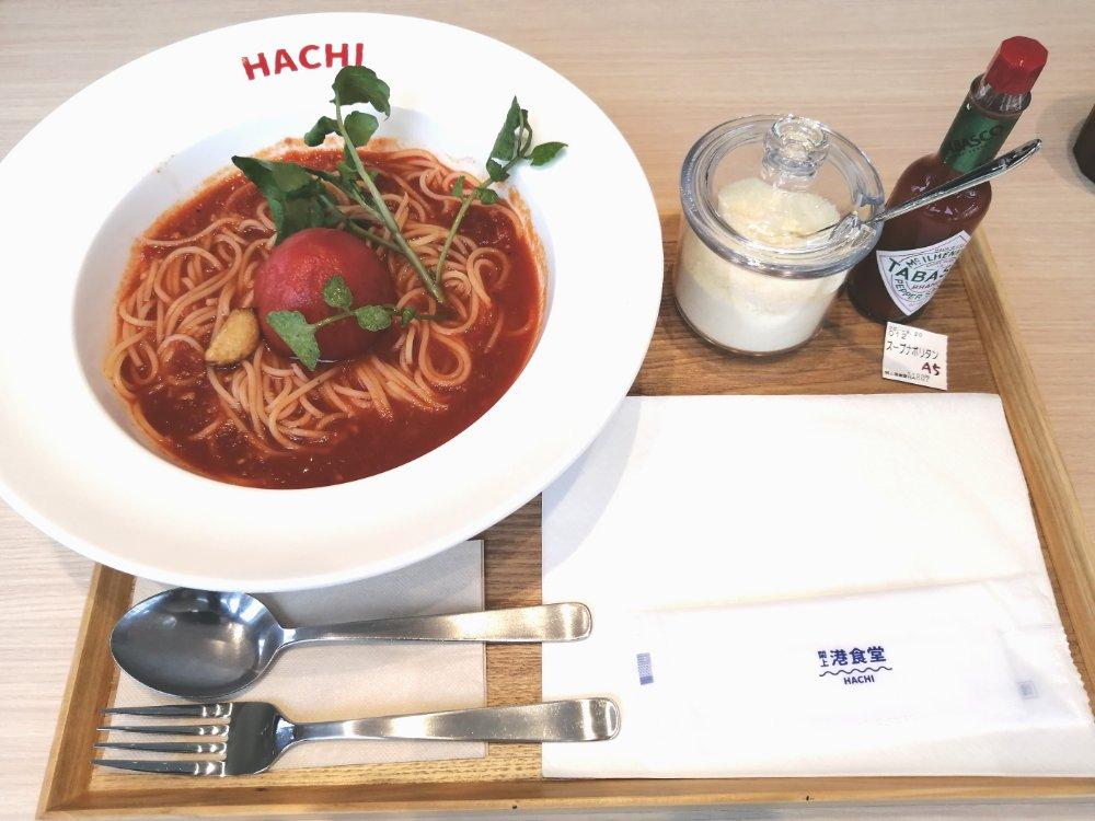 閖上港食堂HACHIのスープナポリタン