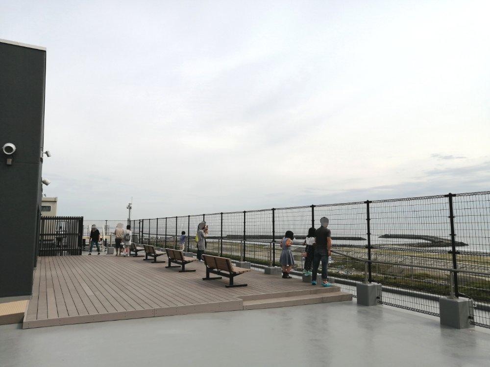 名取市サイクルスポーツセンターの屋上展望台