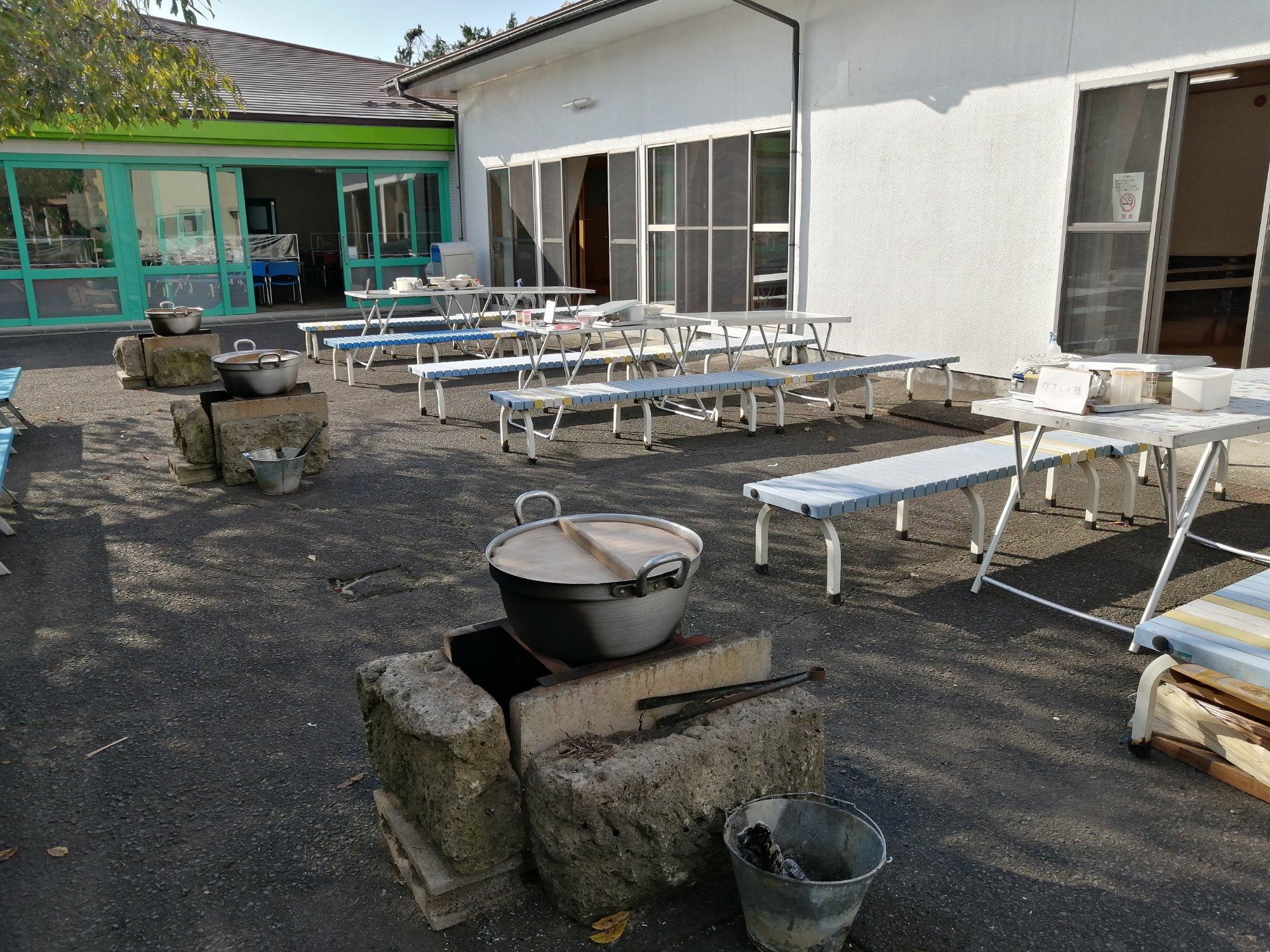 八木山ベニーランドの芋煮会