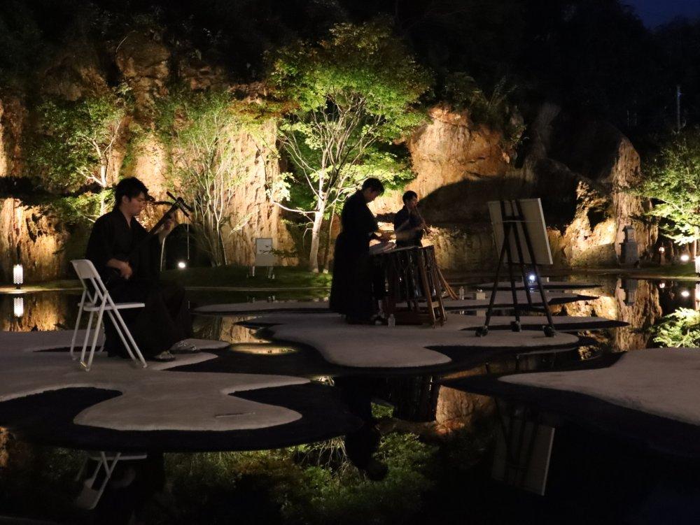松島離宮 仙台和楽器男子の演奏
