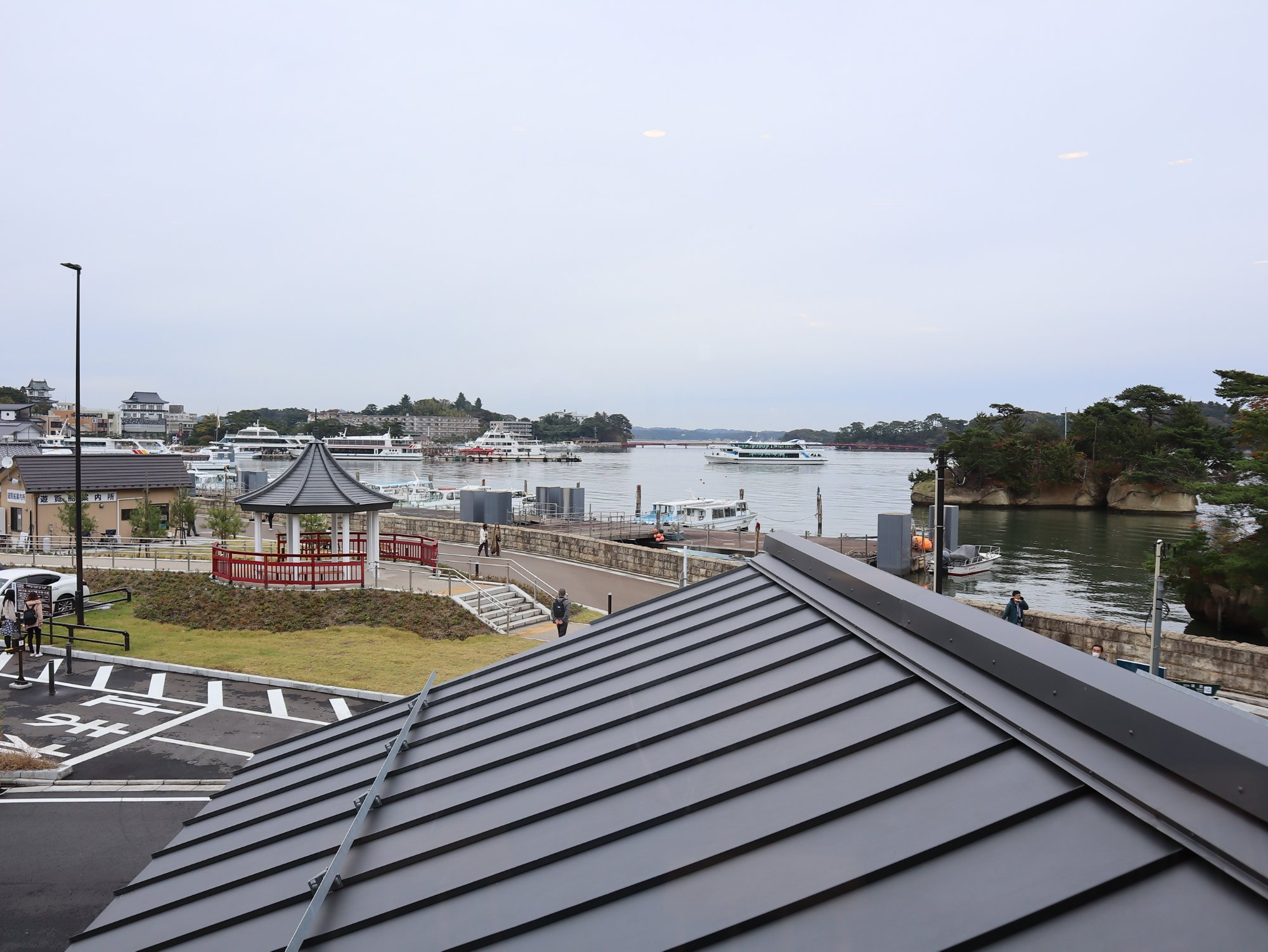スターバックスコーヒー松島離宮店からの景色