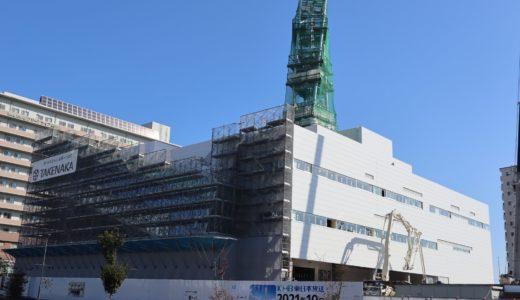 あすと長町『KHB東日本放送新社屋』の外観が完成して来ました|カフェなどもオープン予定