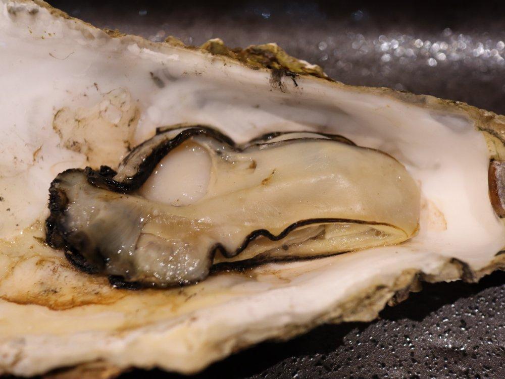 しっかり焼いた牡蠣