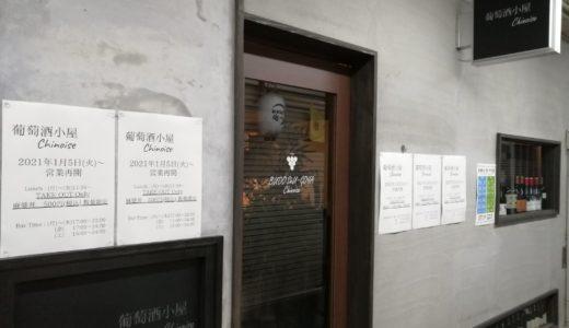いろは横丁の葡萄酒小屋シノワーズが1月5日から再開予定