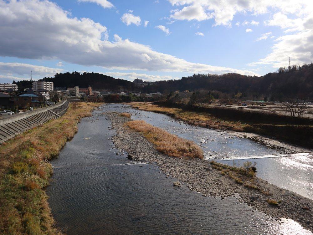 大橋から望む広瀬川