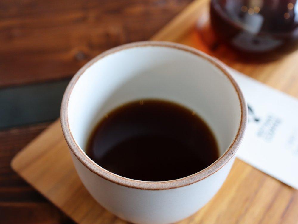 サイフォンで淹れたコーヒー