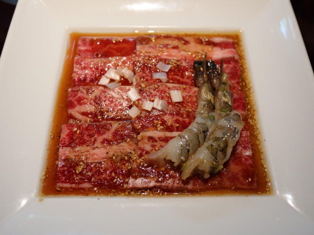 叙々苑のランチ成形肉