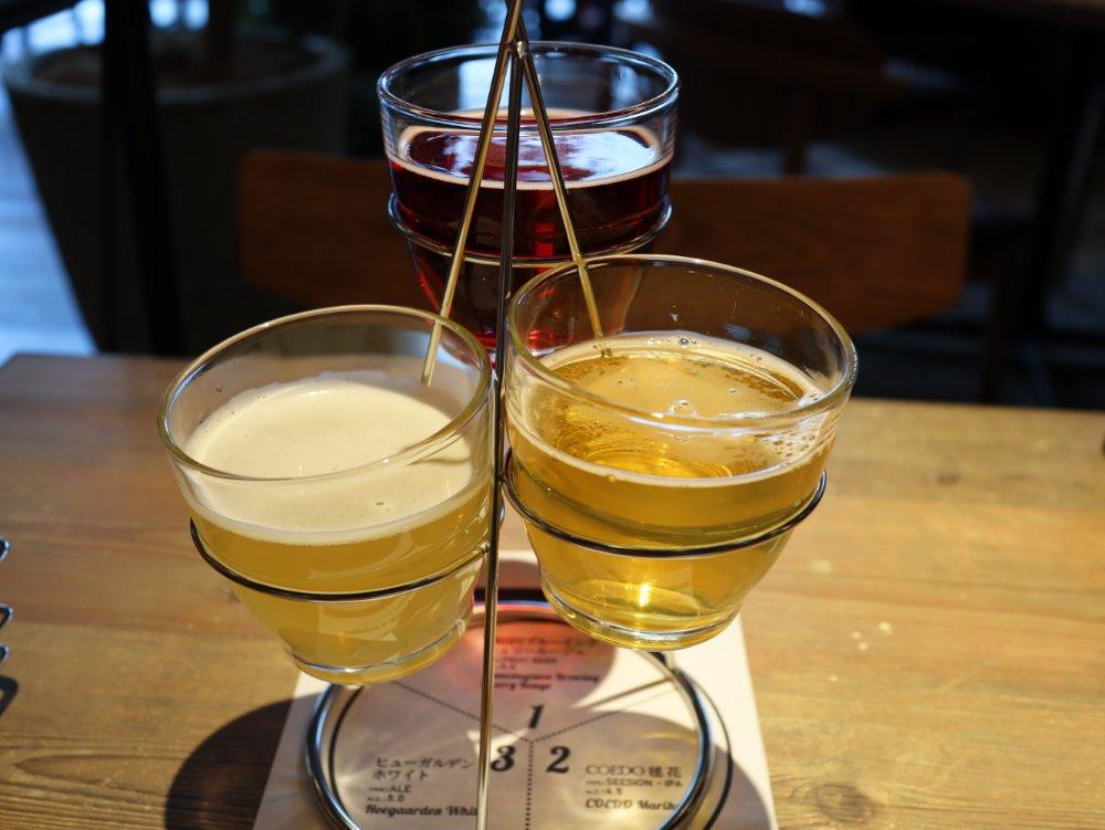 仙台キッチンでクラフトビール3種飲み比べ